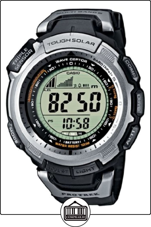 cd90f87135e4 Casio PRO TREK - Reloj digital unisex de cuarzo con correa de resina negra  (altímetro