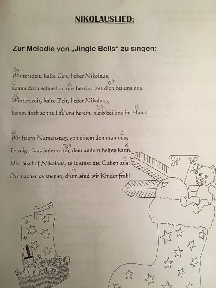 Nikolauslied Nikolaus Lieder Nikolausgedichte Vorschullieder