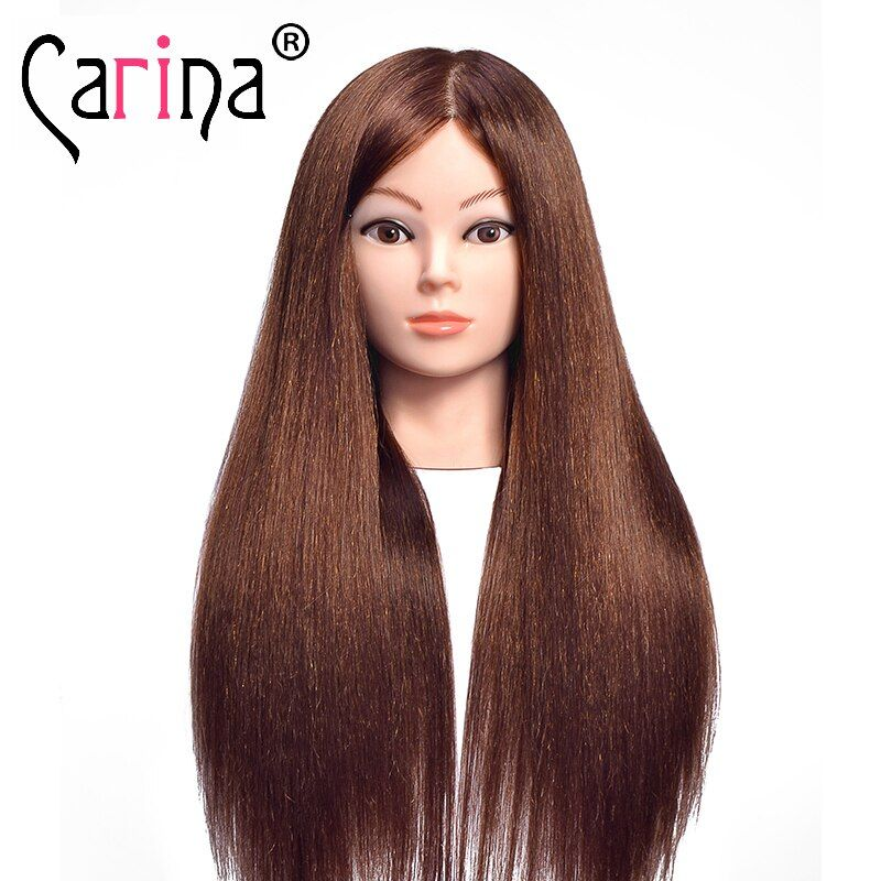 60cm Mannequin Head Of Hairstyle Doll With Natural Hair Wigs Training Doll With Long Hair Manikin Hair Doll F In 2020 Doll Hair Dolls With Long Hair Natural Hair Wigs