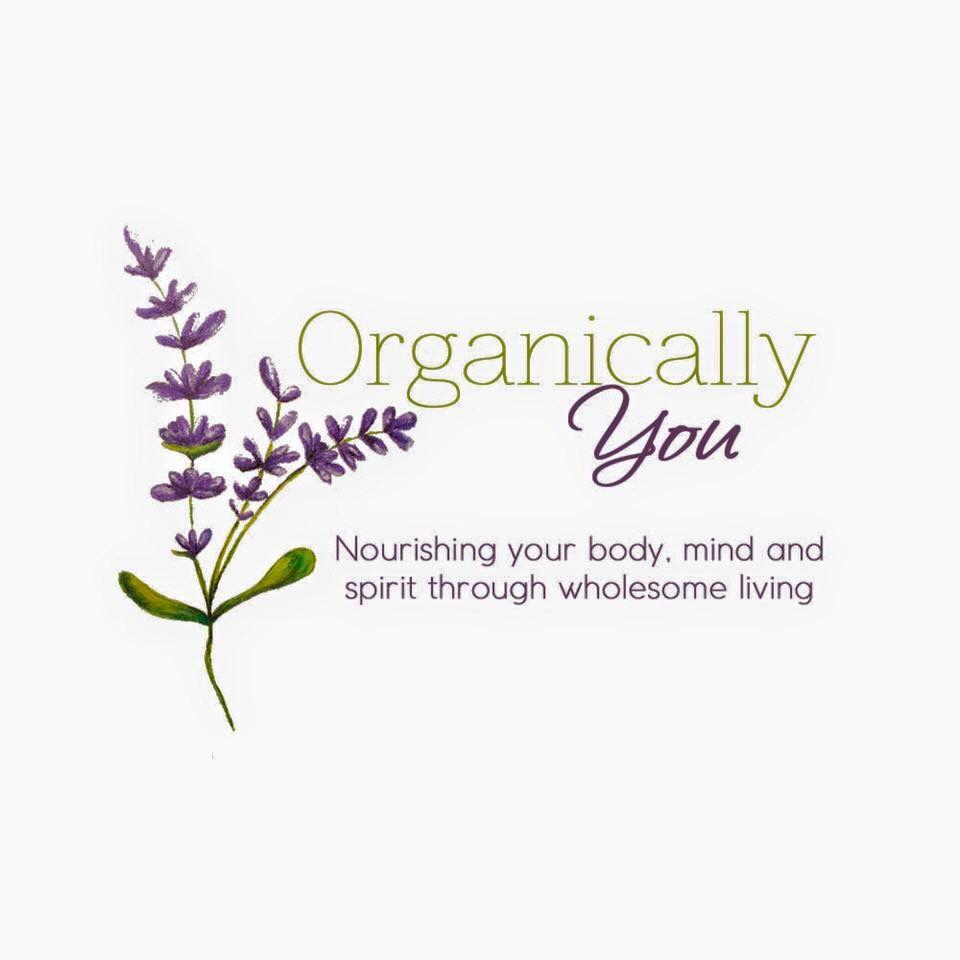 Organically You: Health Coach logo design (hand painted)