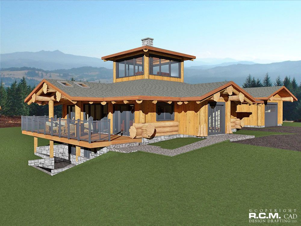 Exceptionnel This Creative Log Home Design Will Be Built At Lake BC. The LOG NEST Was  Designed To Capture A 360 Degree View Of Surrounding Mountains And Lake.