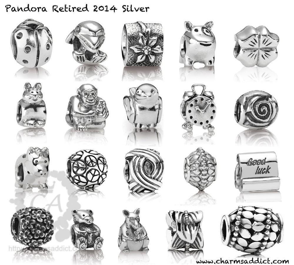 Liste des charms Pandora qui seront retirés de la vente en 2014 ...