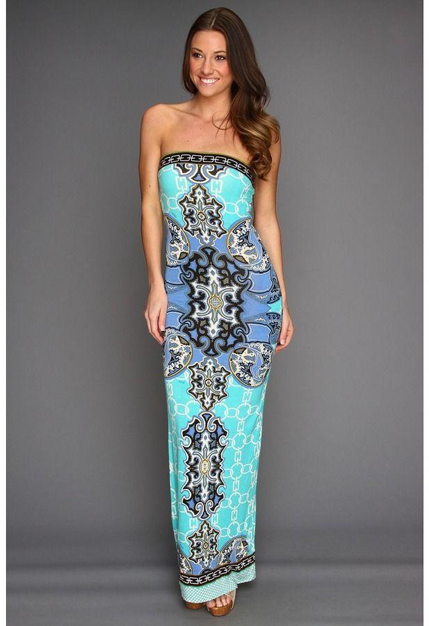 Hale Bob - Cruisin' Maxi Tube Dress (Blue) - Apparel | Love These ...