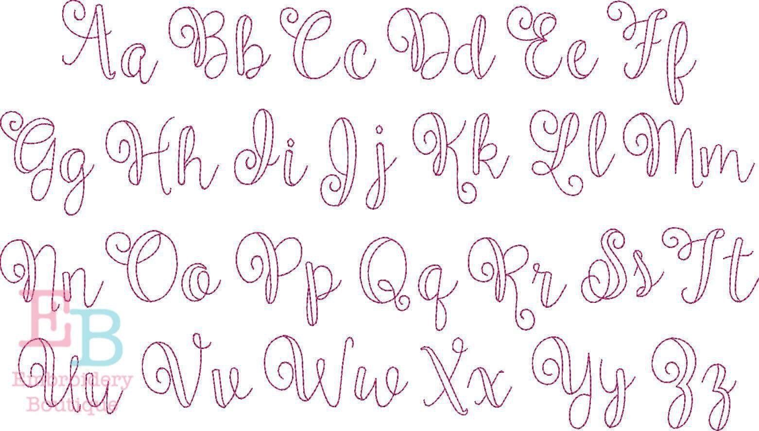 Ballerina Vintage Embroidery Font Script Fonts Alphabet Lettering Fonts Embroidery Boutique