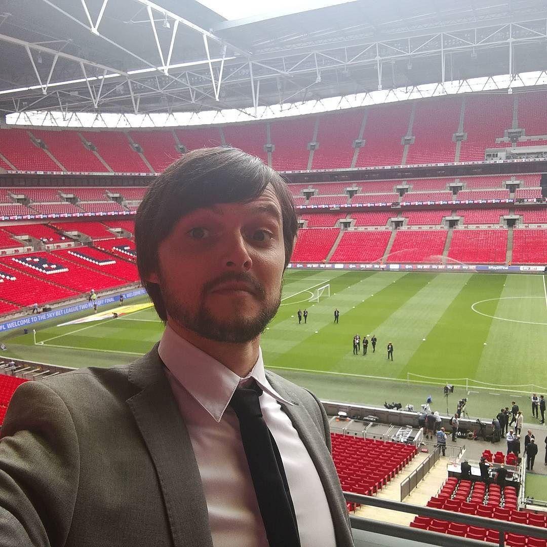 Flippin Royal box at Wembley! #jobperks #wembley #wembleystadium #efl #playoffs #playofffinal #league2 #football