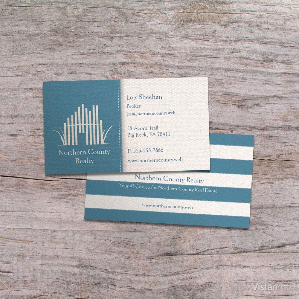 Blue Beach House Business Cards   Vistaprint   Cape Cod Real Estate ...