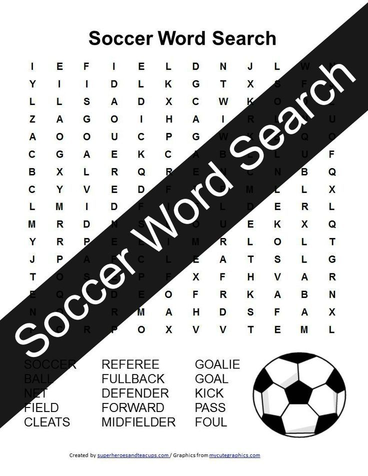 Soccer Word Search Free Printable Kids Activities Soccer crafts