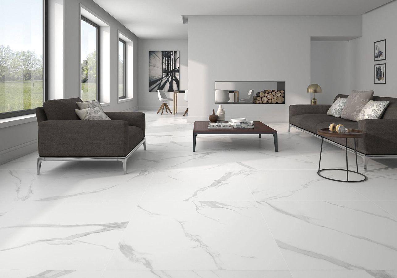 WHITE SOUL MATT 60x60 Ceramic Tiles in 2021   Living room tiles, Marble  living room, Tile floor living room