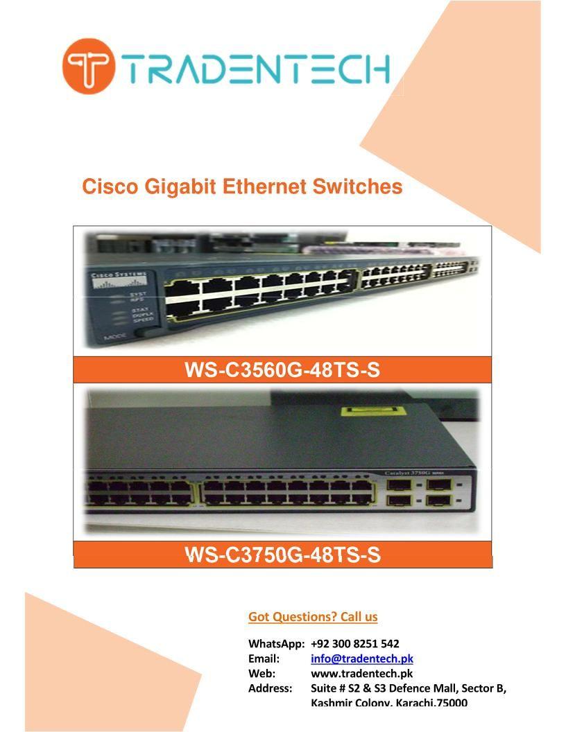 Cisco 48 Port Gigabit Ethernet Network Switches