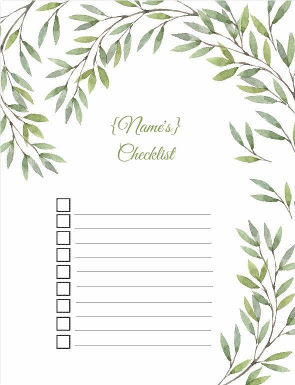 Free printable to do list Baby Stuff Pinterest Free printable