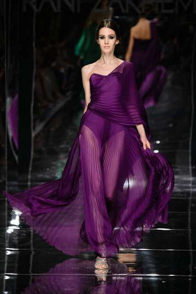 Vestido que lleva un #Body palabra de honor en color morado ...