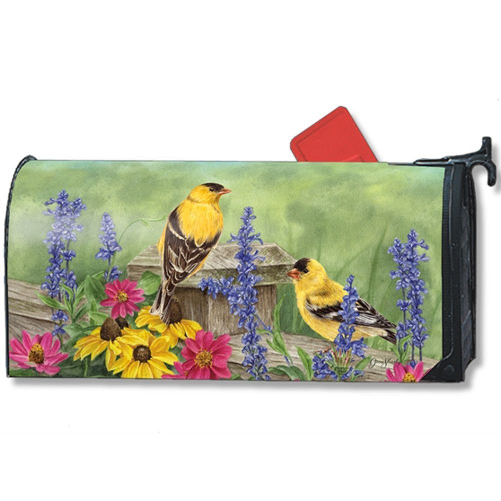 Golden Finches Large Mailwrap
