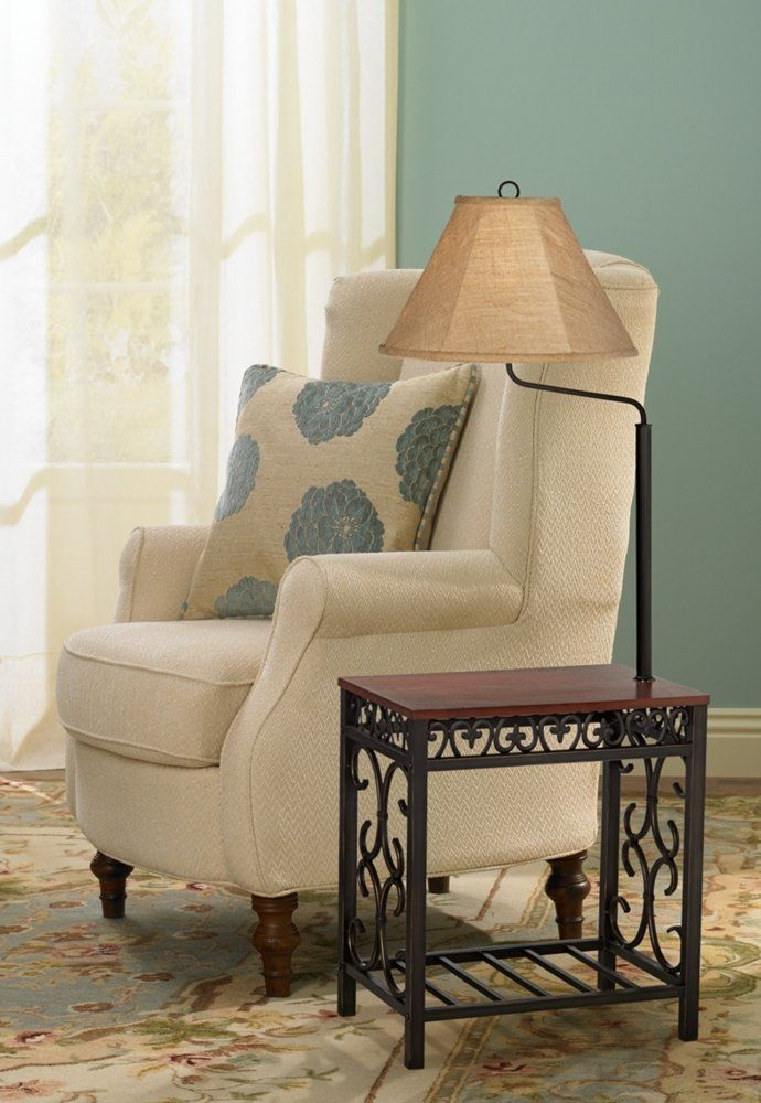 Travata End Table Floor Lamp With Images Floor Lamp Table End