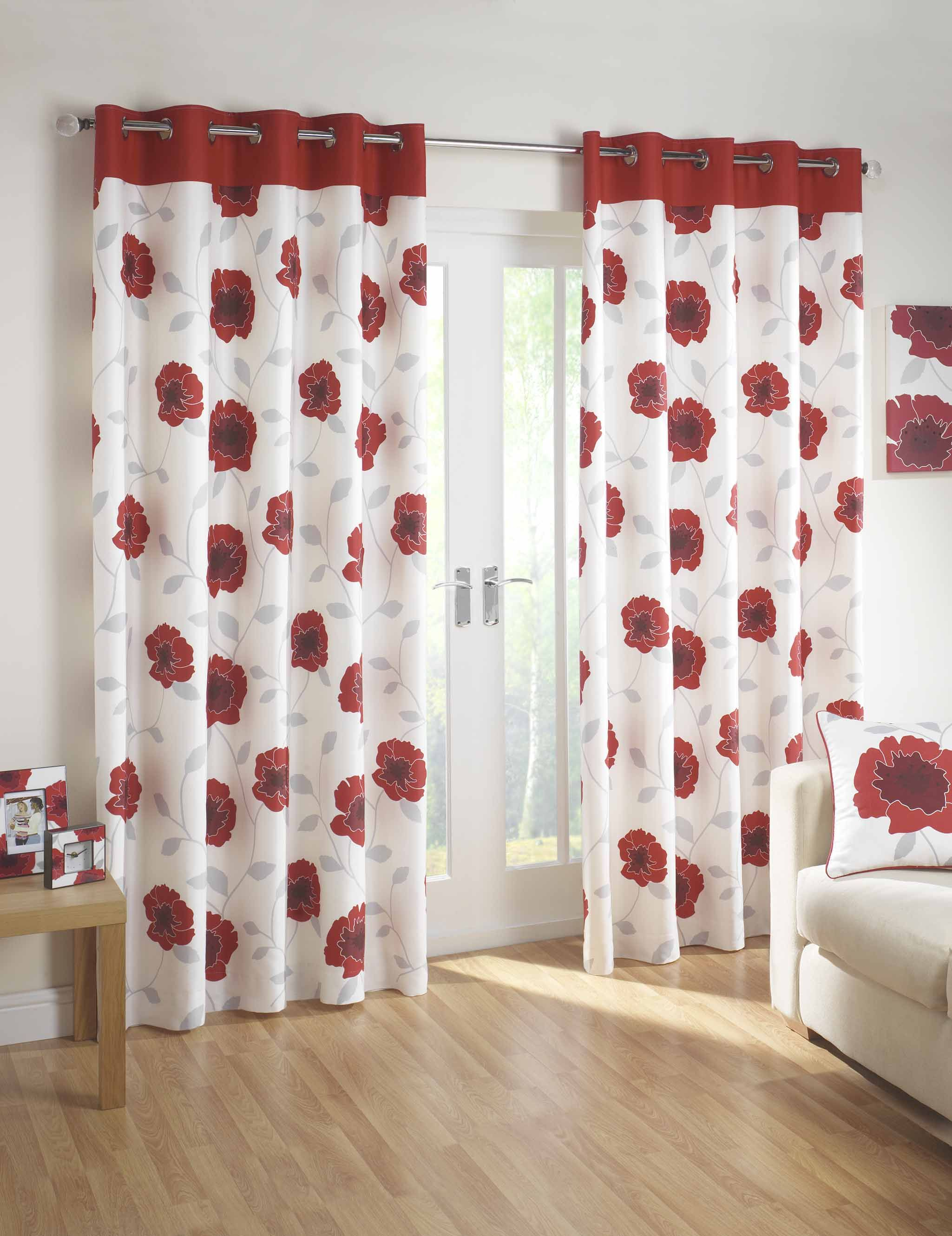 Poppy Red Curtain Red Kitchen Curtains Curtain Designs Red Curtains Living Room #red #and #gold #curtains #for #living #room