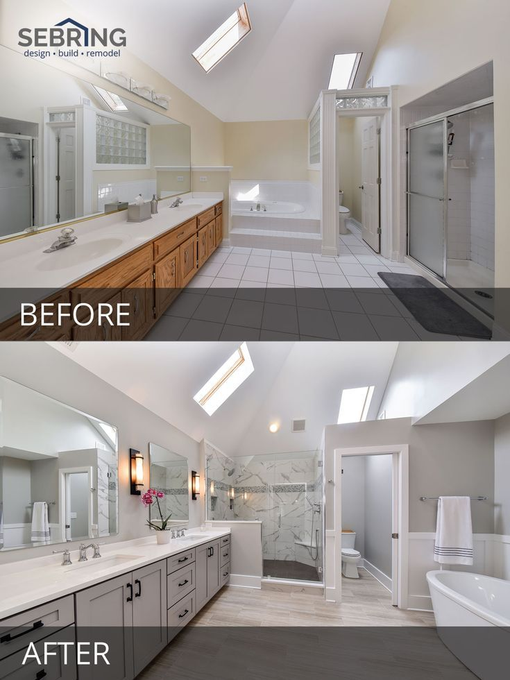 Sarah & Ray's Master Bathroom Before & After Pictures #homestagingavantapres