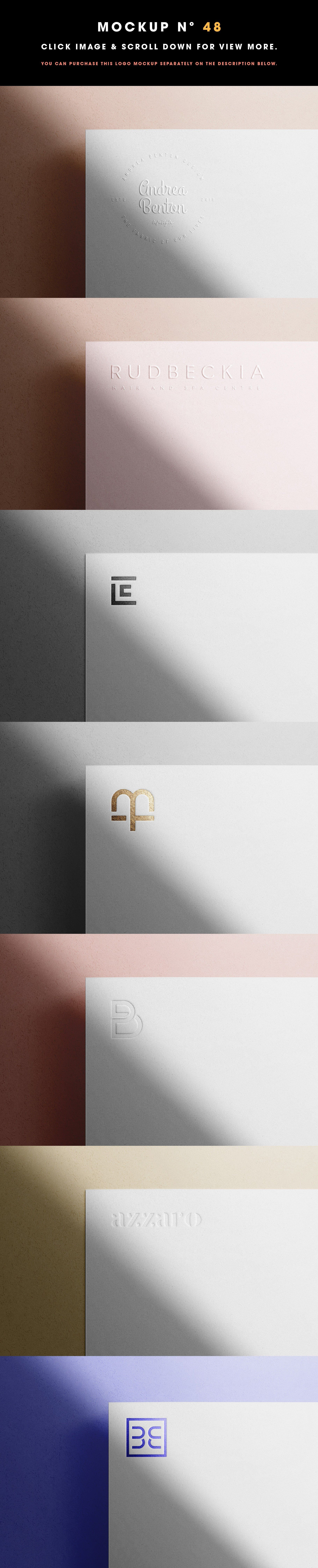 50 Logo Mockup Branding Bundle V2 Logo Mockup Branding Mockups Luxury Paper
