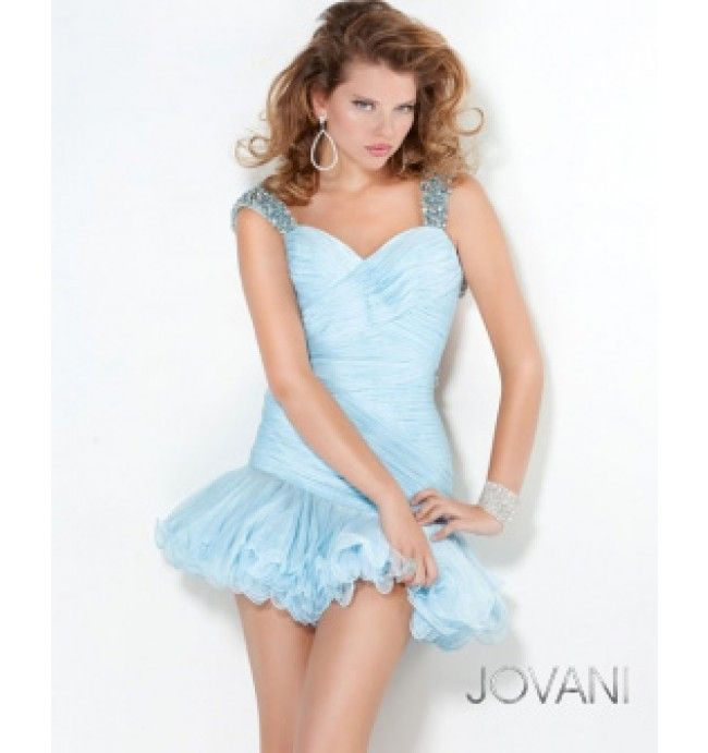 $480.00 Jovani Short Dress at http://viktoriasdresses.com/ Through John's Tailors