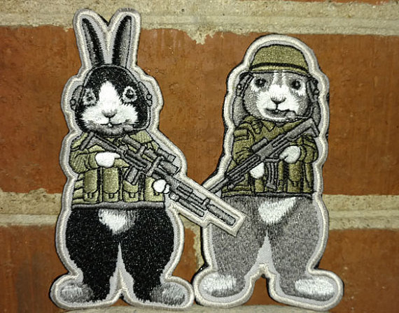 Tactical bunny morale tactical velcro patch badge