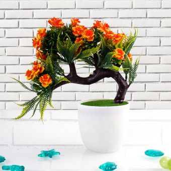 Kılıç 6553 Dekoratif Yapay Çiçek Turuncu