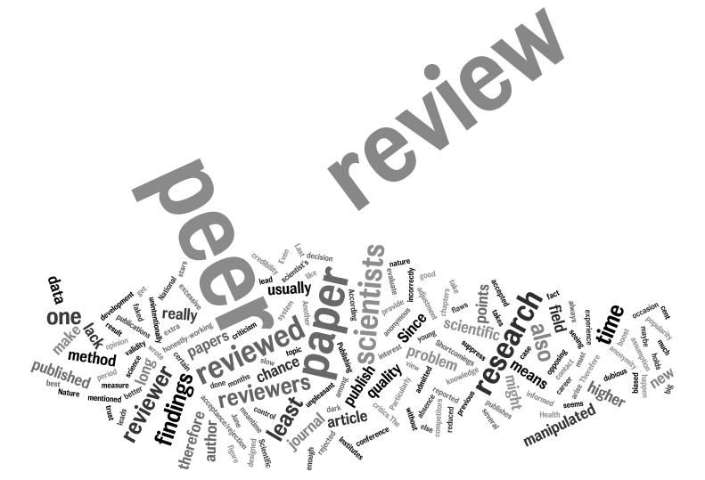 Is Peer Review actually important for your dissertation? Find answer