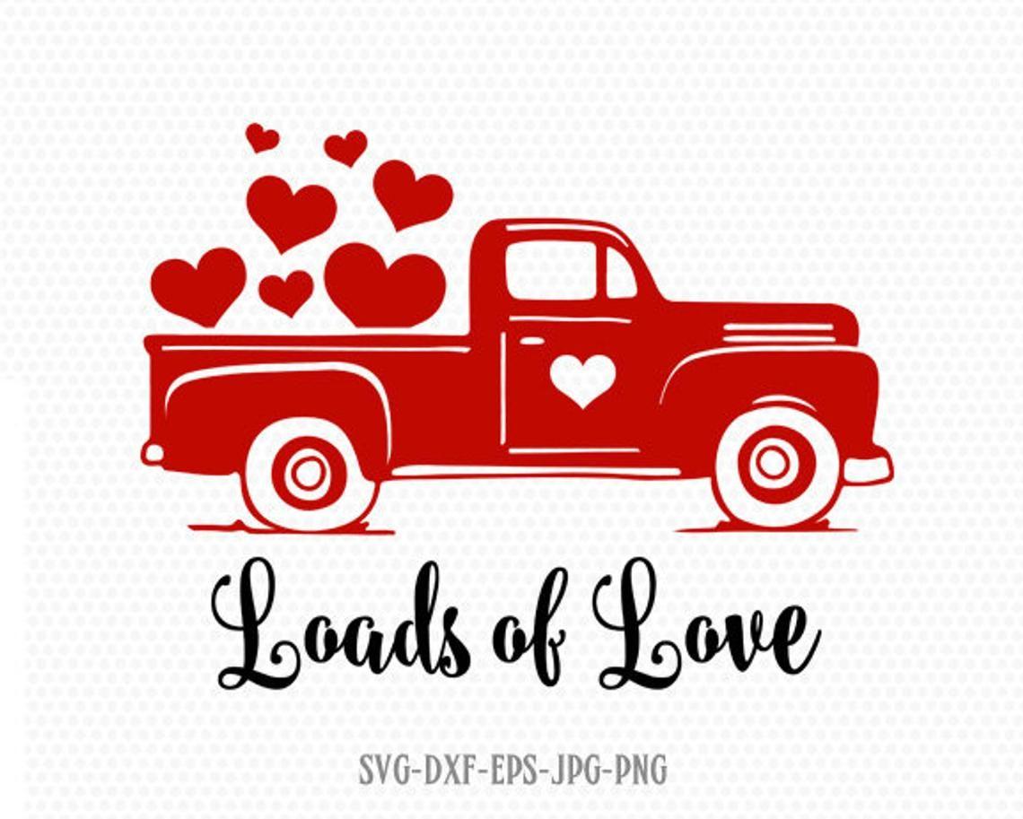 Download Loads of love svg, Valentines vintage Truck svg, valentine ...