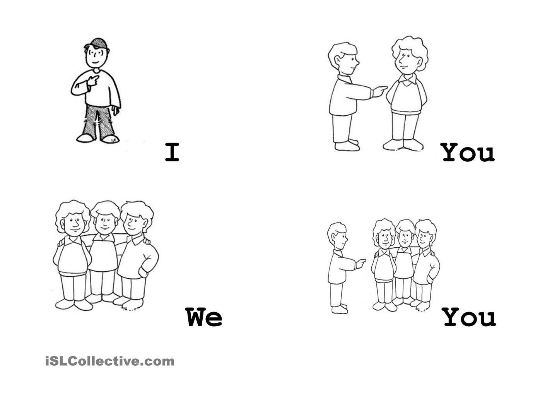 Pronouns Flashcards I We You