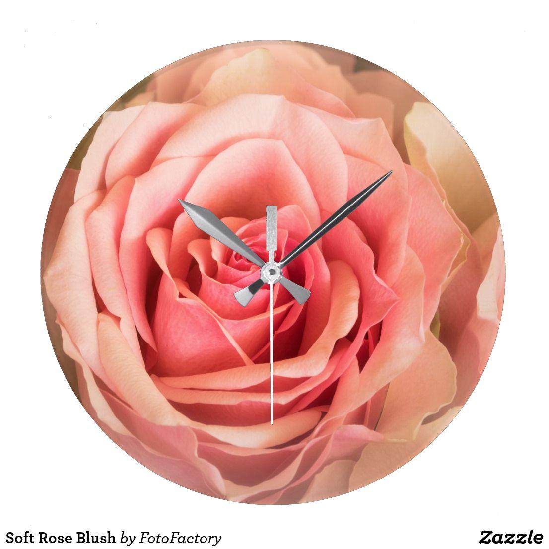 Soft Rose Blush Large Clock