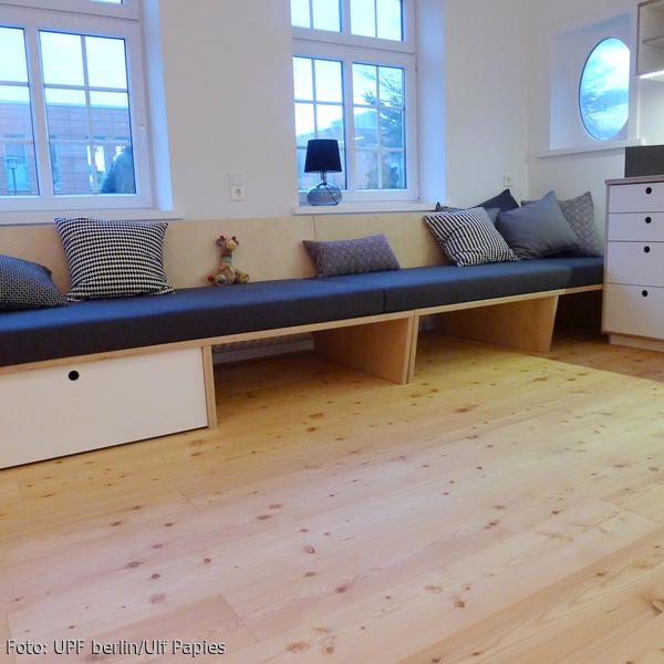 moderne Sitzbank XL mit Stauraum - ella weiß: UPF möbel | Sitzbank ...