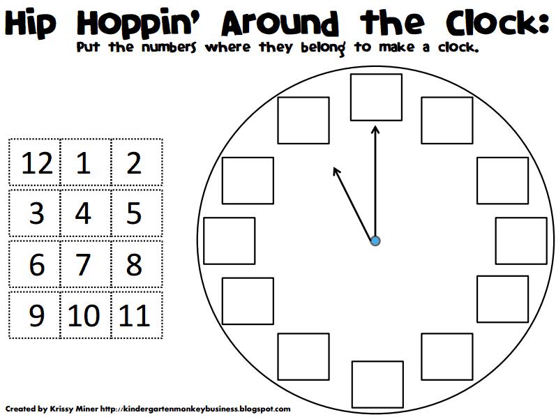 Hip Hoppin\' Around the Clock.pdf   Kurrikulum: Math   Pinterest