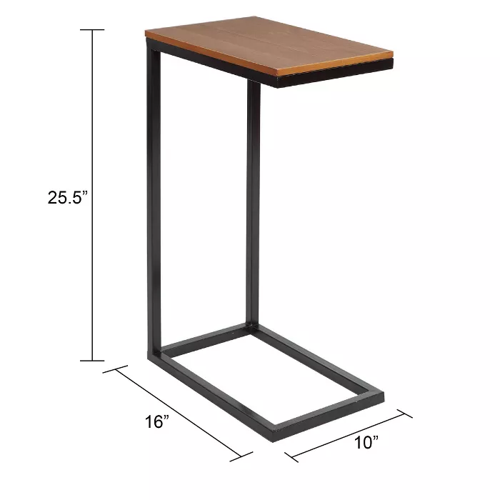 C Table With Wood Top Black Silverwood Brown Black In 2020 C