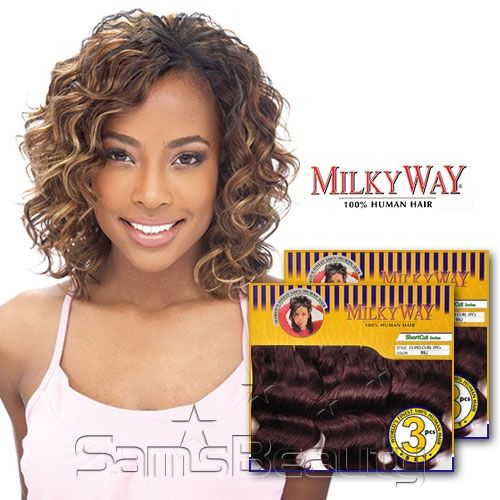 milky way hair weave styles milkyway human hair weave cupid curl 3pcs crochet braids 5428 | f9e3e58f60aaf2f0b3c334ff791440e9