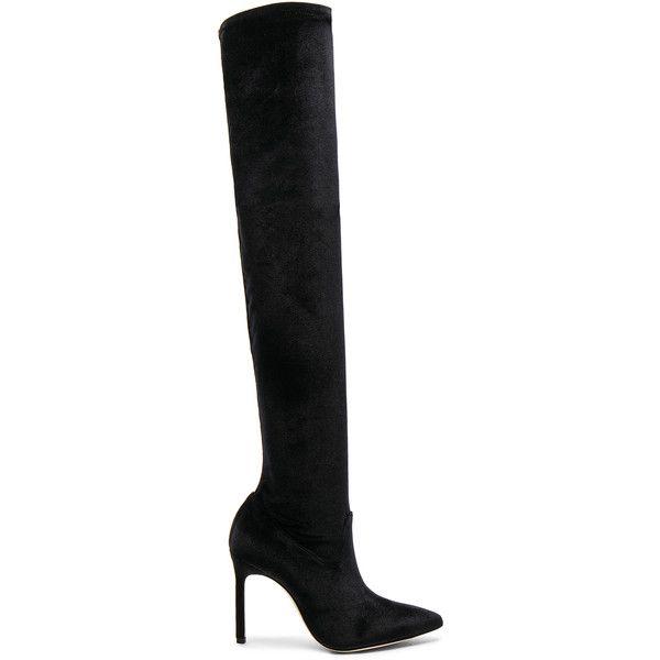 d038bbe2f0b Manolo Blahnik x Jonathan Simkhai Velvet Pascalarehi Boots (5.830 RON) ❤  liked on Polyvore featuring shoes