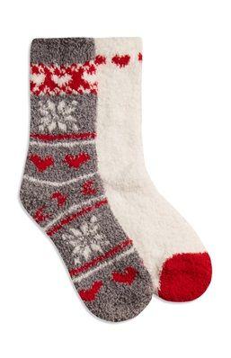 nouveau concept 0f51d ca2f5 2 paires de chaussettes douces et chaudes à motifs de noël ...