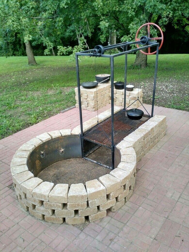 Pin by Gerwin Linneman on Patio Ideas | Fire pit bbq, Fire
