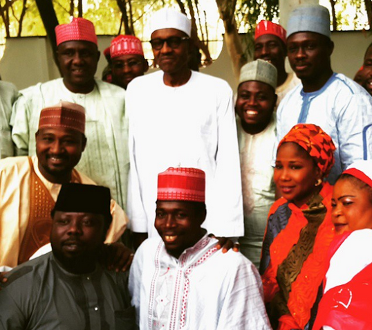 Welcome to St. Zion's Blog: Photo: Northern actors pay Gen. Buhari a congratul...