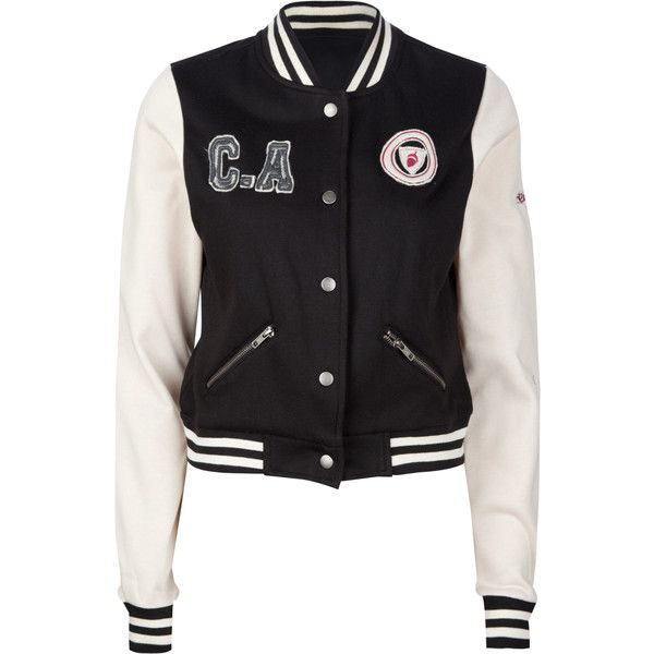 ASHLEY Fleece Womens Varsity Jacket ($30) ❤ liked on Polyvore