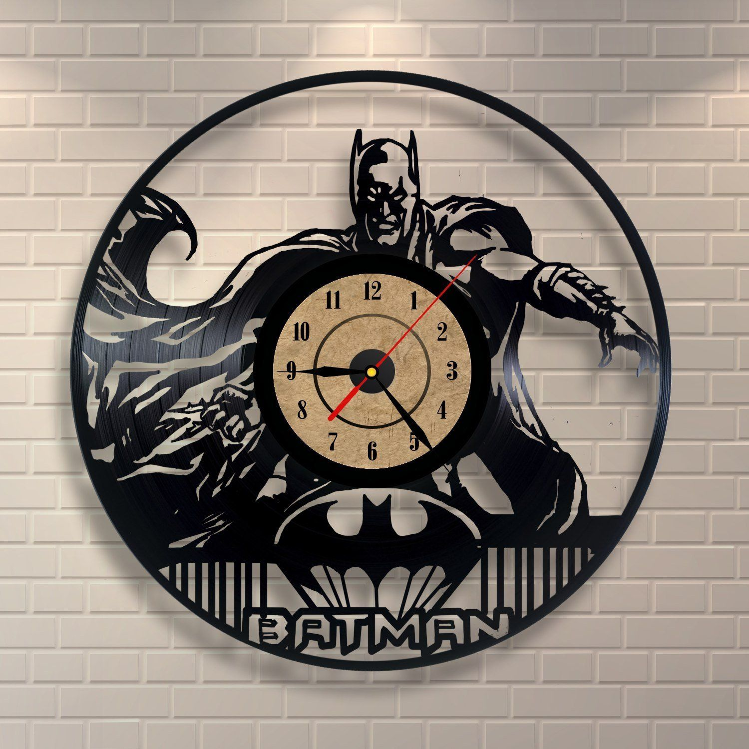 Batman Wanduhr - hergestellt aus einer Schallplatte | Cooles ...