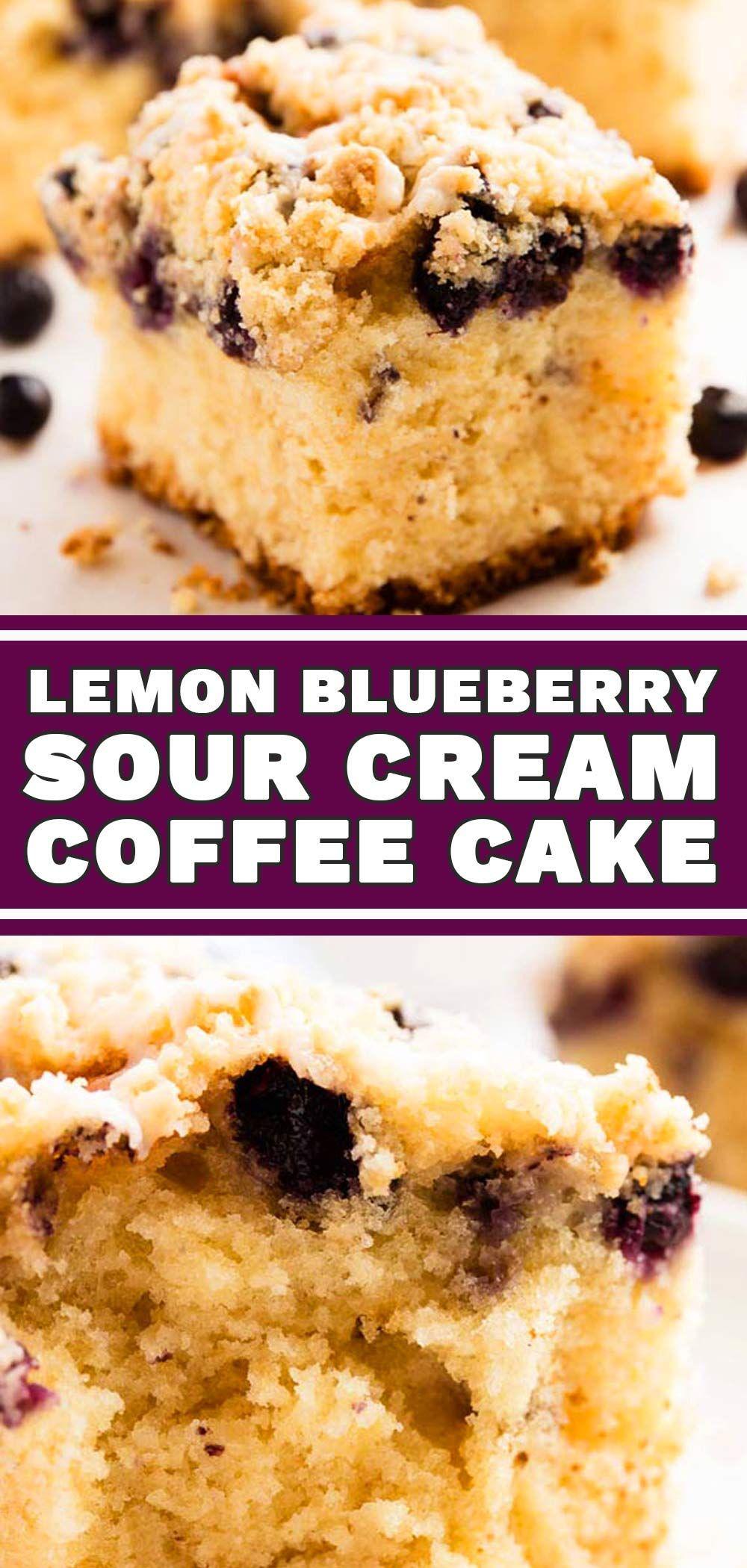 Blueberry Lemon Coffee Cake made with cake mix! You won't