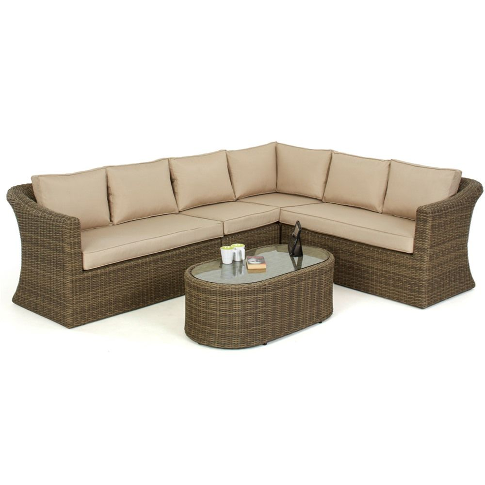 Maze Rattan S Winchester Large Deluxe Corner Sofa Set Is An Wonderfully Comfortable Suite Made From Maintenance Free Synthetic Rat Corner Sofa Set Rattan Corner Sofa Furniture