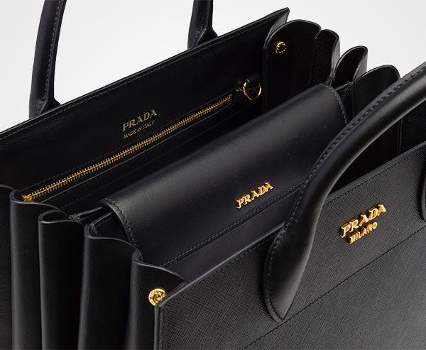 66675446f018 PRADA BIBLIOTHÈQUE BAG - 1BA049_2EVU_F0002_V_OOO | Handbags | Bags ...