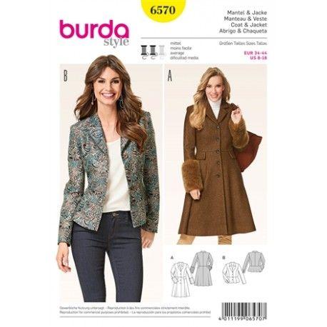 Femme Manteau Couture Burda amp; Pinterest Veste Patron N°6570 5d1gvxw5q
