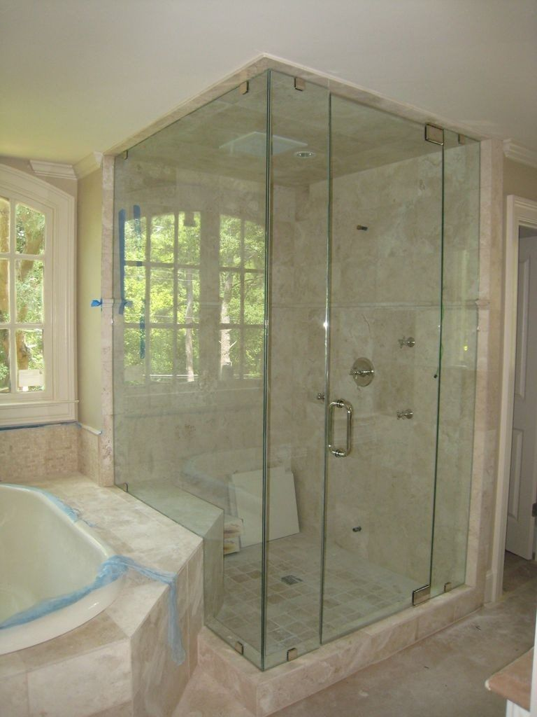 Right Angle Glass Shower Doors Glass Doors Pinterest Shower