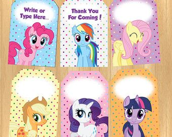Instant Download Editable My Little Pony Thank You Tag Parties
