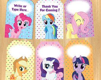 Instant Download Editable My Little Pony Food Tent Pony Pony