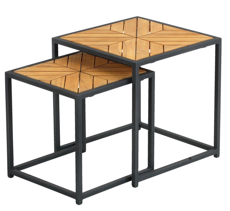 Nest of tables NAUR teak   JYSK in 2020   Small balcony ...