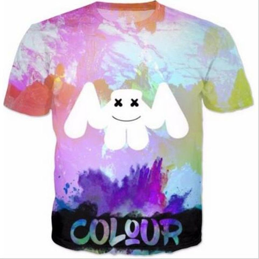 >> Click to Buy << Fashion Hip Hop Casual Womens/Mens t shirt Marshmello Colour Short sleeves 3D Print T-Shirt Summer Tops Tees Plus S-5XL R1114 #Affiliate