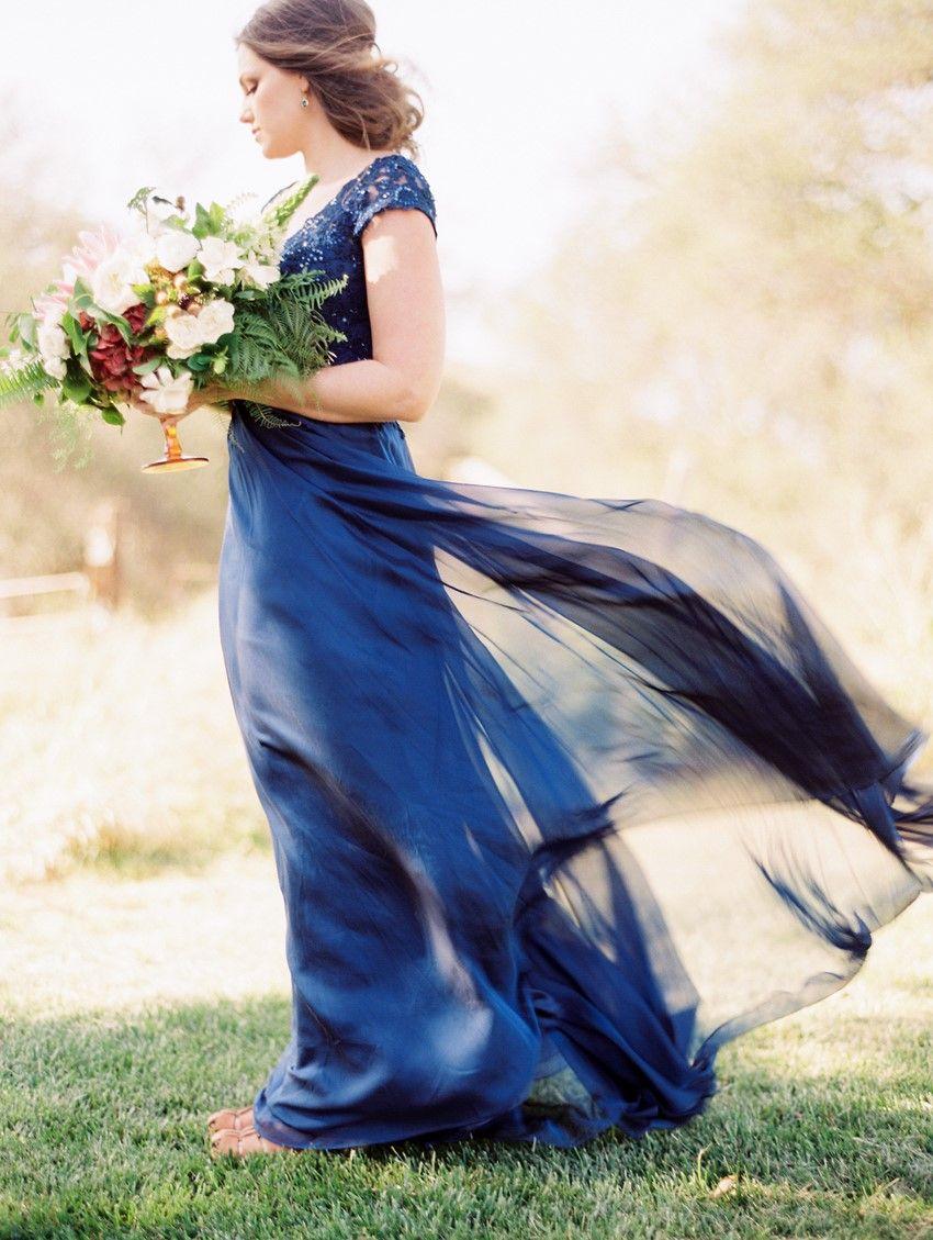 Blue bridal gown alexa pinterest bridal gowns