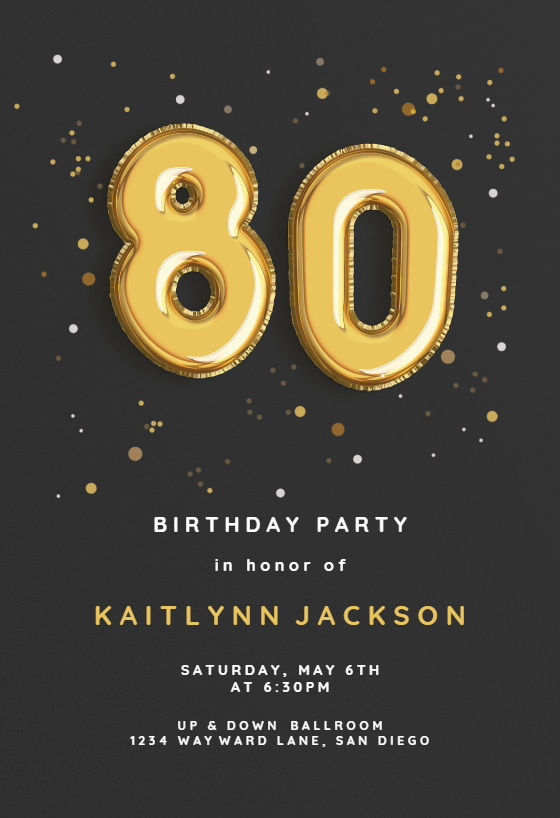 Online Birthday Invitations Templates Gorgeous Foil Balloons Invitation Templatecustomize Add Text And Photos .