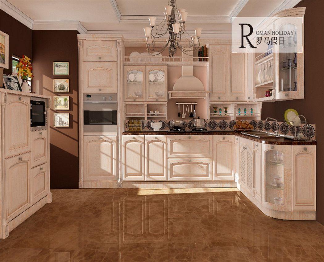 Foto de gabinetes de cocina americanos de madera s lida for Cocinas integrales de madera