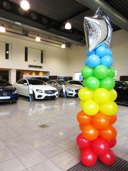 Balloon column for mercedesbenz by jojofun in london for Balloon decoration london